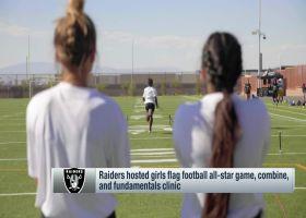 Raiders host girls' flag football all-star game