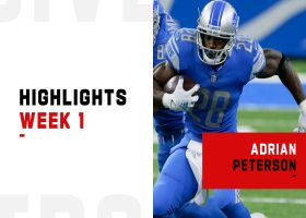 Every touch from Adrian Peterson's Lions debut | Week 1