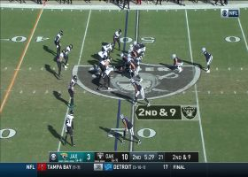 Josh Jacobs' slick juke sets up first down for Oakland