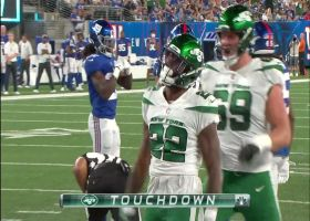 La'Mical Perine drags defenders into the end zone on strong TD