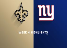 Saints vs. Giants highlights | Week 4