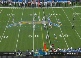 Herbert rewards Staley's gutsy fourth-down call with conversion to Cook