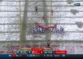 Harrison Butker hits snowy 23-yard field goal