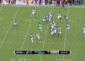 Marken Michel slithers through Jags for smooth catch and run