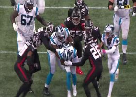 Curtis Samuel refuses to go down on inside handoff for 17 yards