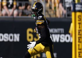 Ben Roethlisberger's 41-yard rainbow to Diontae Johnson is placed perfectly