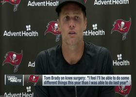 Brady on knee surgery: 'I feel I'll be able to do some different things this year'