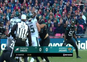 Dareus knocks ball from Wentz to force fumble