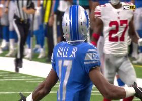 Matt Stafford uncorks 49-yard TD strike to Marvin Hall
