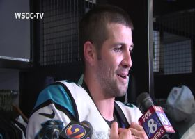 Graham Gano reacts to his game-winning field goal