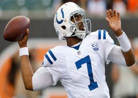 Brissett shows arm strength on deep third-down conversion