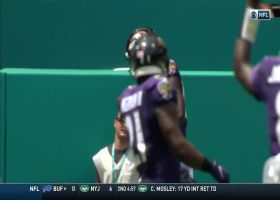 Lamar Jackson delivers fadeaway dime to Miles Boykin for FOURTH TD toss