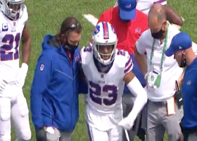 Micah Hyde limps off field with apparent injury