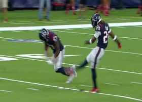 Texans safety Justin Reid booms opening kickoff vs. Bucs
