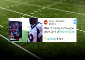 Jurrell Casey virtually surprised by family at Broncos Camp