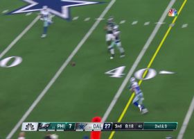 Wentz buys time to deliver improbable ball to diving Agholar