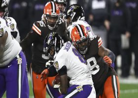 Browns drop Lamar Jackson for sacks on back-to-back plays