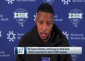 Saquon Barkley: Knee injury 'helped teach me patience'