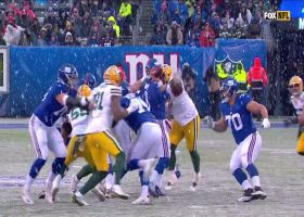 Danny Dimes delivers difficult throws under duress in the snow
