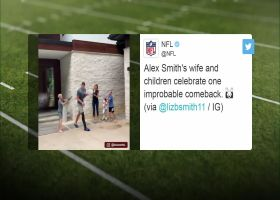 See Alex Smith celebrate with his family after being activated from the team