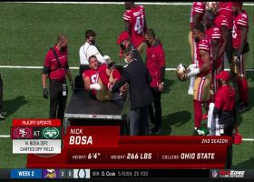 Nick Bosa carted off the field with apparent injury