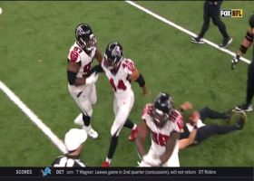 Dan Quinn is AMPED after Falcons' fourth-down sack
