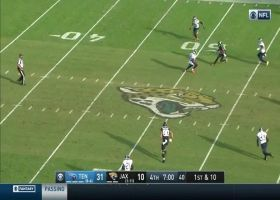 Gardner Minshew's 22-yard laser beam hits Keelan Cole perfectly