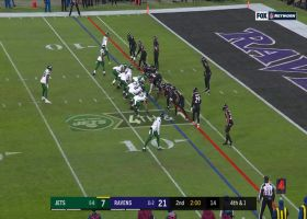 Ravens take over after Robby Anderson can't haul in Darnold's fourth-down throw