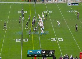 Raiders swarm Justin Herbert for massive loss at critical moment