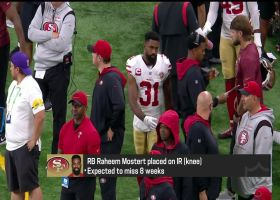 Rapoport: 49ers place Raheem Mostert on IR, expected to miss 8 weeks