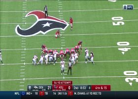 Kaimi Fairbairn boots a 54-yard FG to put Texans on the board