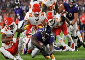 Latavius Murray muscles through slew of defenders for physical TD