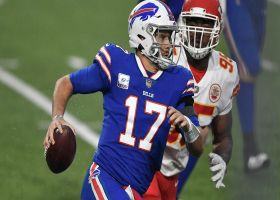 Josh Allen sheds Bashaud Breeland on slippery designed QB run