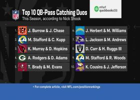Nick Shook's Top 10 QB-WR duo rankings for 2021 so far