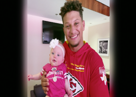 Mahomes' daughter Sterling surprises him with 99 Club reveal