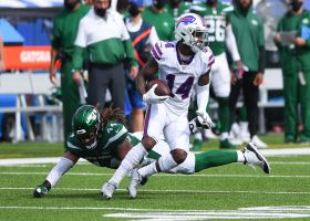Stefon Diggs snags back-to-back passes in first action with the Bills