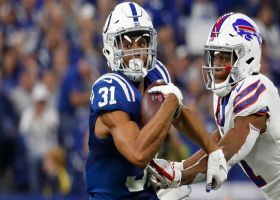 Quincy Wilson falls short of end zone after recovering fumble