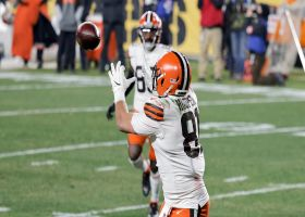 Hoop Dreams! Hooper's open TD catch extends Browns' big lead before half