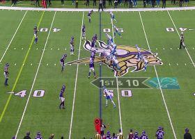 David Blough threads needle to Jesse James for 23-yard completion