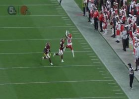 Browns rookies connect on picturesque back-shoulder throw for 35 yards