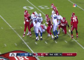 Kenny Moore dips completely under Chiefs lineman for speedy sack