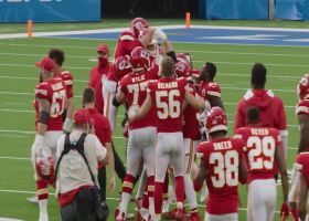 Stadium view: Chiefs swarm Butker after he drills game-winning FG