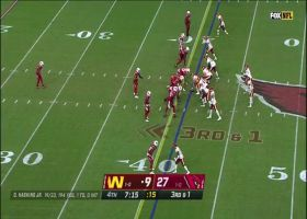 Haskins hits Sims with beautiful over-the-shoulder throw for 30 yards