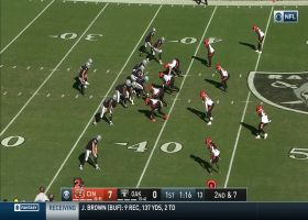 Geno Atkins SWALLOWS Derek Carr for sack