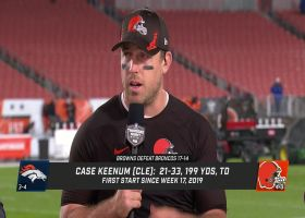 Case Keenum explains what 'TNF' win means for Browns