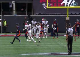 Ricardo Allen steps into open space to intercept Drew Lock's desperation throw