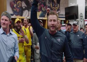 Los Angeles Rams head coach Sean McVay gives out game balls after wild Week 11 win