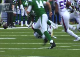 Jordan Poyer forces fumble on Chris Herndon
