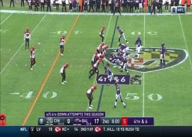 Lamar Jackson overthrows Mark Andrews on failed fourth-down conversion