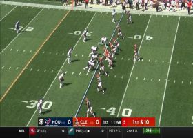 Bryant goes above the rim for 29-yard snag between defenders